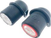Benson Fietslampjes - Led - Set van 2 - op Batterij - Rood - Wit - Voorlicht - Achterlicht - Voor en achter - Fietsverlichting - Kinderen - Volwassenen