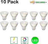 10 Pack LED Spot 5W Warm Wit GU10 2700K niet dimbaar TOP KWALITEIT !