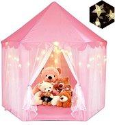 """55 """"x 53"""" Princess Castle Game Tent-Girls 'Playroom-Kinderspeelkamer-Indoor en Outdoor Games-Pink-Wordt geleverd met led-verlichting"""