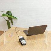 Plexiglas scherm met uitsparing - spatschermen coronavirus - 70 x 75 cm - corona scherm