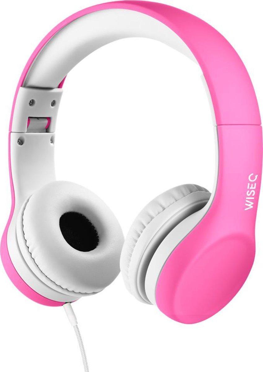 WiseQ Junior On Ear Koptelefoon Voor Kinderen –  Vanaf 3 tot 9 jaar – Volumebegrenzer – Roze