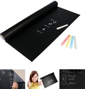 Krijtbord Folie XL - Zelfklevend met 5 krijtjes - Krijtbord Sticker Kinderen - Krijtbordsticker - Krijtbordfolie - Schoolbord Folie - Memobord Folie - 200 x 45 CM -Zwart