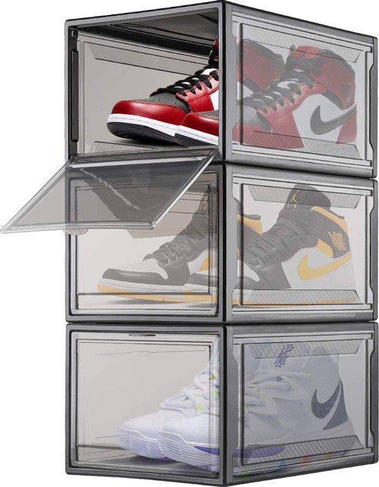 Schoenenbox - Schoenen opbergsysteem - Schoenen organzizer - Opbergbox - 3 stuks - Zwart