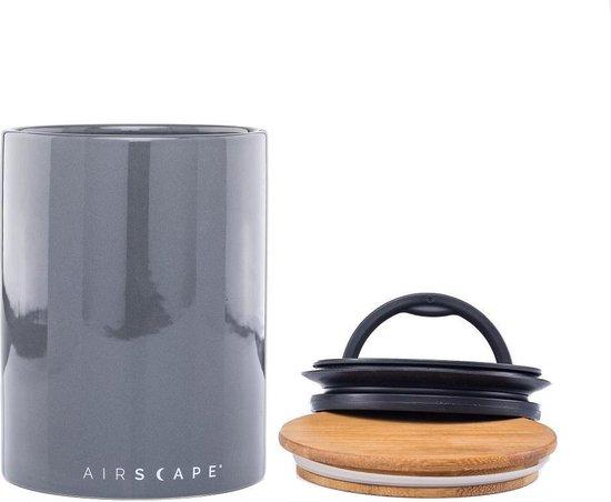 Planetary Design USA - Airscape® Ceramic 500gr. - Grijs – Voorraadpot – keramiek - voorraadbus koffie - voorraadblik – luchtdicht en vers
