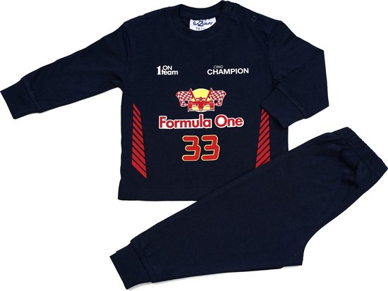 Fun2Wear - Pyjama Driver - Navy Blauw - Maat 128 - Jongens