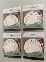 La Cucina: Papieren onderzetters 10 cm - set van 4 keer 50 stuks