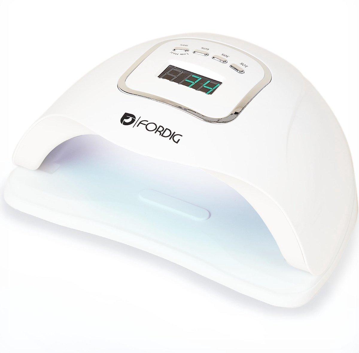 ForDig 80W Professionele Nageldroger voor Gel Nagels - Nagellak Droger met UV LED Lamp en Timer voor