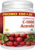 Fytostar Acerola C 1000 – Voor weerstand – Vegan - Vitamine C - 120 kauwtabletten
