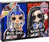 L.O.L. Surprise! O.M.G. Remix Rocker Boi en Punk Grrrl - 2Pack
