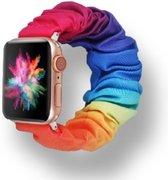 Apple Watch Bandje 44mm en 42mm scrunchie band regenboog AMDA