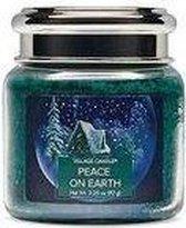 Village Candle Village Geurkaars Peace on Earth | dennen zeezout berkenhout - mini jar