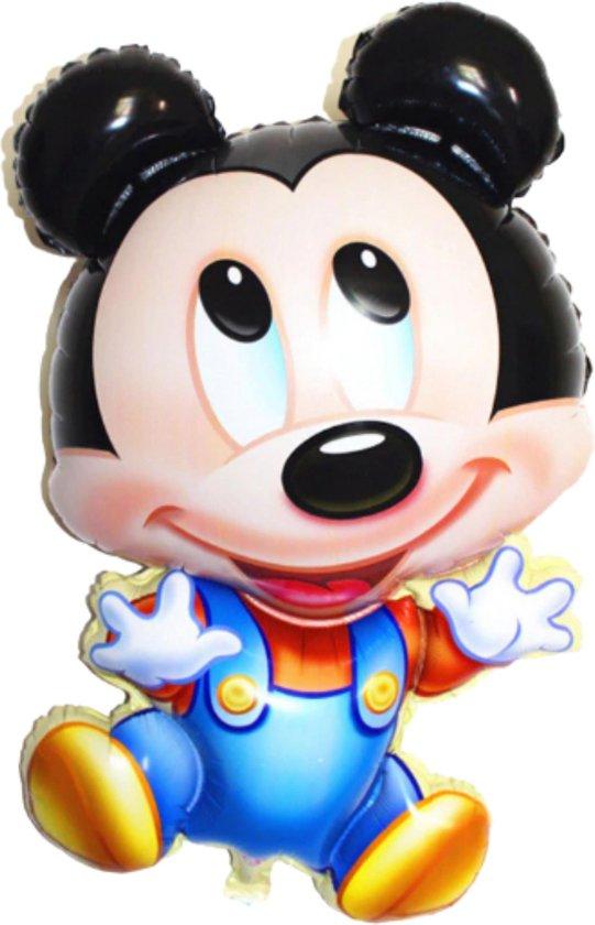 Mickey Mouse Ballon - XL Groot - 80 x 45 cm - Inclusief Opblaasrietje - Ballonnen - Ballonnen Verjaardag - Helium Ballonnen - Folieballon - Disney - Mickey Mouse Speelgoed - Mickey Mouse