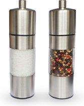Basuto - Luxe peper en zoutmolen - Roestvrijstalen peper en zoutmolen set - 2 stuks