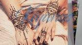 Henna tattoo inkt pasta cone tube zwart 35gr tijdelijke neptatoo voor creativiteit-bodyart-festival