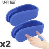 U-Fit One® Blauw 2 Stuk Draagbare Acupressuur- Hoofdpijn - Migraine - Energie - Stress - Ontspanning - Kalmerend - Pijnverlichting - Spanning - Stijfheid - Nekklachten - Schouderklachten - Rugklachten - Yoga - Balans - Natuurlijke Genezing - Drukpunt