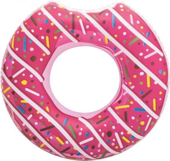 XXL Opblaasbare Donut Zwemband - 110 CM - Roze - Sterk PVC