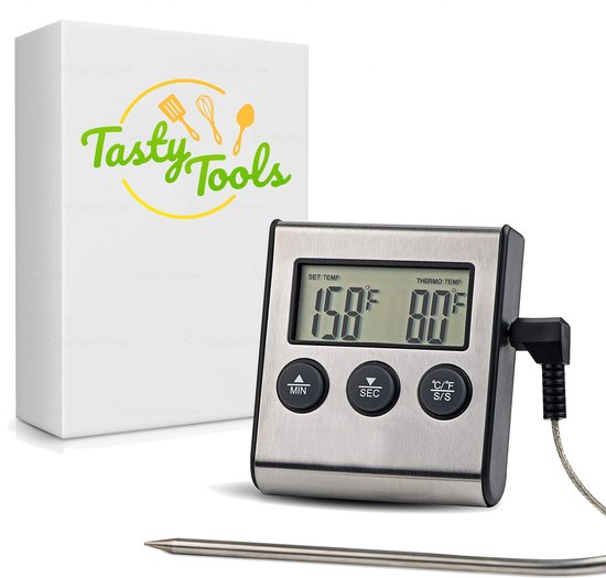 Tasty Tools Keukenthermometer -  Vlees en Suikerthermometer - BBQ accessoire