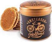 Blik Met Stroopwafels Amsterdam Holland Goud - Souvenir
