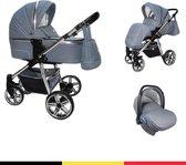 P'tit Chou Verona Jeans - Complete 3 in 1 Kinderwagen set - Buggy + Autostoel + Incl. Accessoires
