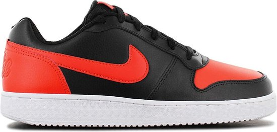 Nike Ebernon Low - Heren Sneakers Sport Casual Schoenen Zwart-Rood AQ1775-004 - Maat EU 41 US 8