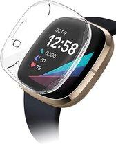 Fitbit Sense Screenprotector + Fitbit Sense Hoesje - Transparant Hoesje en Screen Protector voor Fitbit Sense