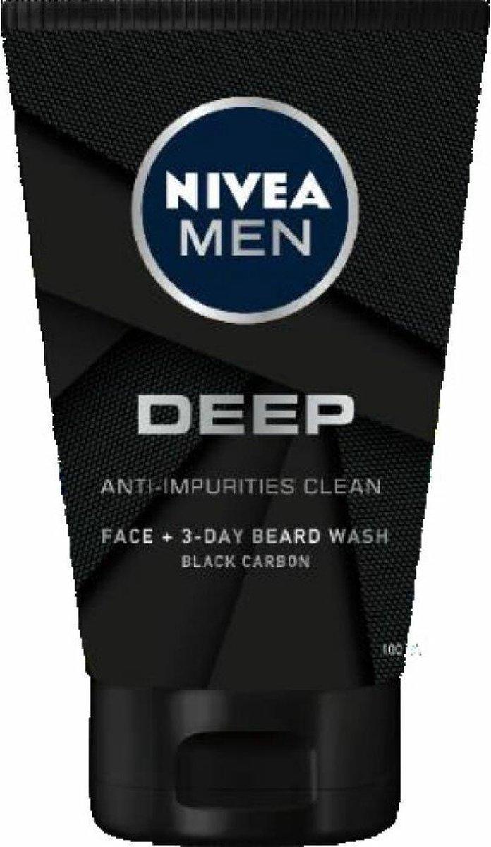 NIVEA MEN Deep Reinigingsgel - Face Wash - 100 ml