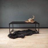 Urban Living - Zwarte Metalen Salontafel - Strak Industrieel Design - Rechthoek