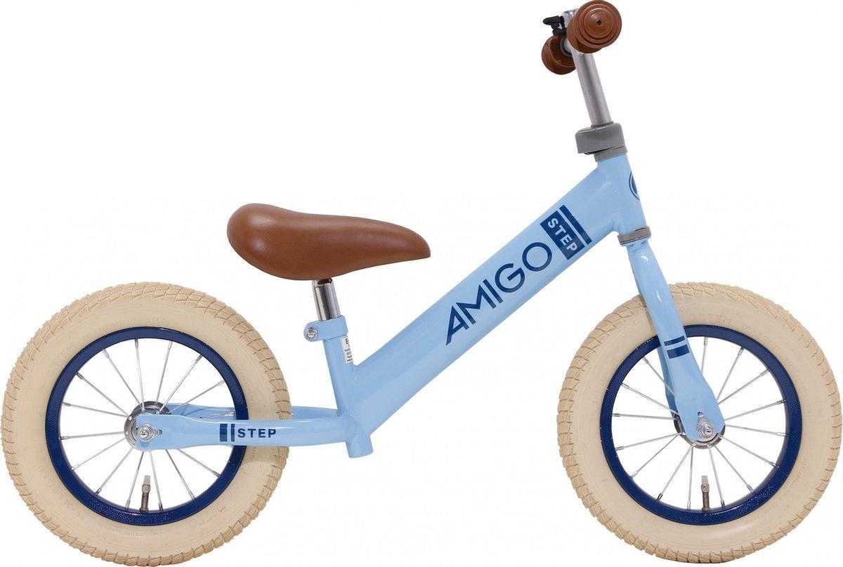 AMIGO Step - Loopfiets 12 inch - Jongens en Meisjes - Blauw kopen