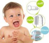 Vingertandenborstel baby, vinger tandenborstel kinderen INCLUSIEF GRATIS BLAUW OPBERG DOOSJE