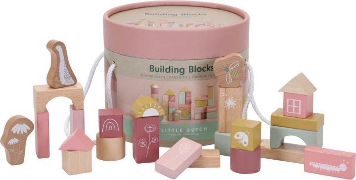 Little Dutch Bouwblokken pink