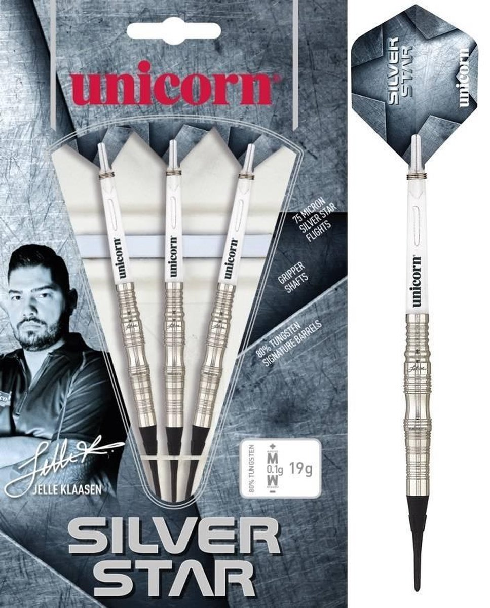 Unicorn Jelle Klaasen Silverstar 80% Soft Tip - 21 Gram