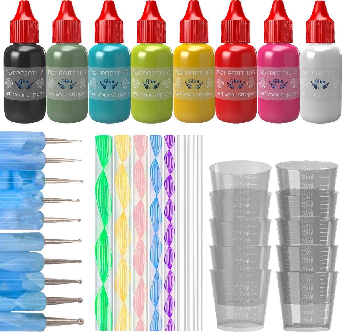Dot Painting Startpakket - Dotting Tools - Pennen - Set - Penseel - Hobby - Gereedschap -Volwassenen en Kinderen - Inclusief VERF