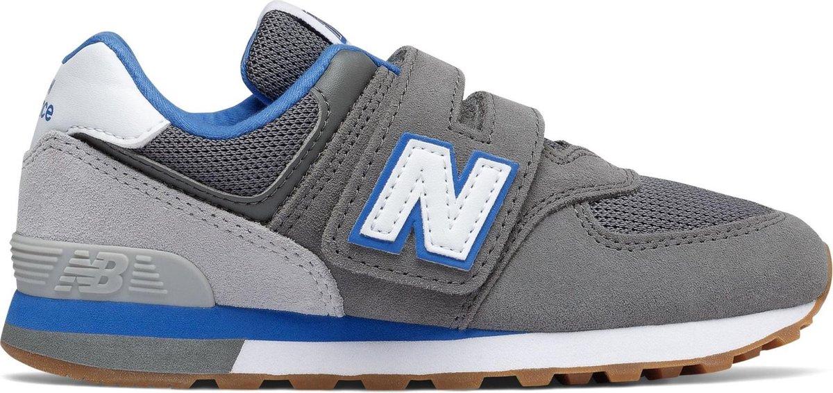 New Balance Sneakers - Maat 35 - Unisex - donkergrijs/wit/blauw