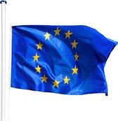 tectake -  Aluminium vlaggenmast Europa - 402859