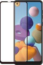 Azuri Curved Tempered Glass RINOX ARMOR - zwart frame - voor Samsung A21s