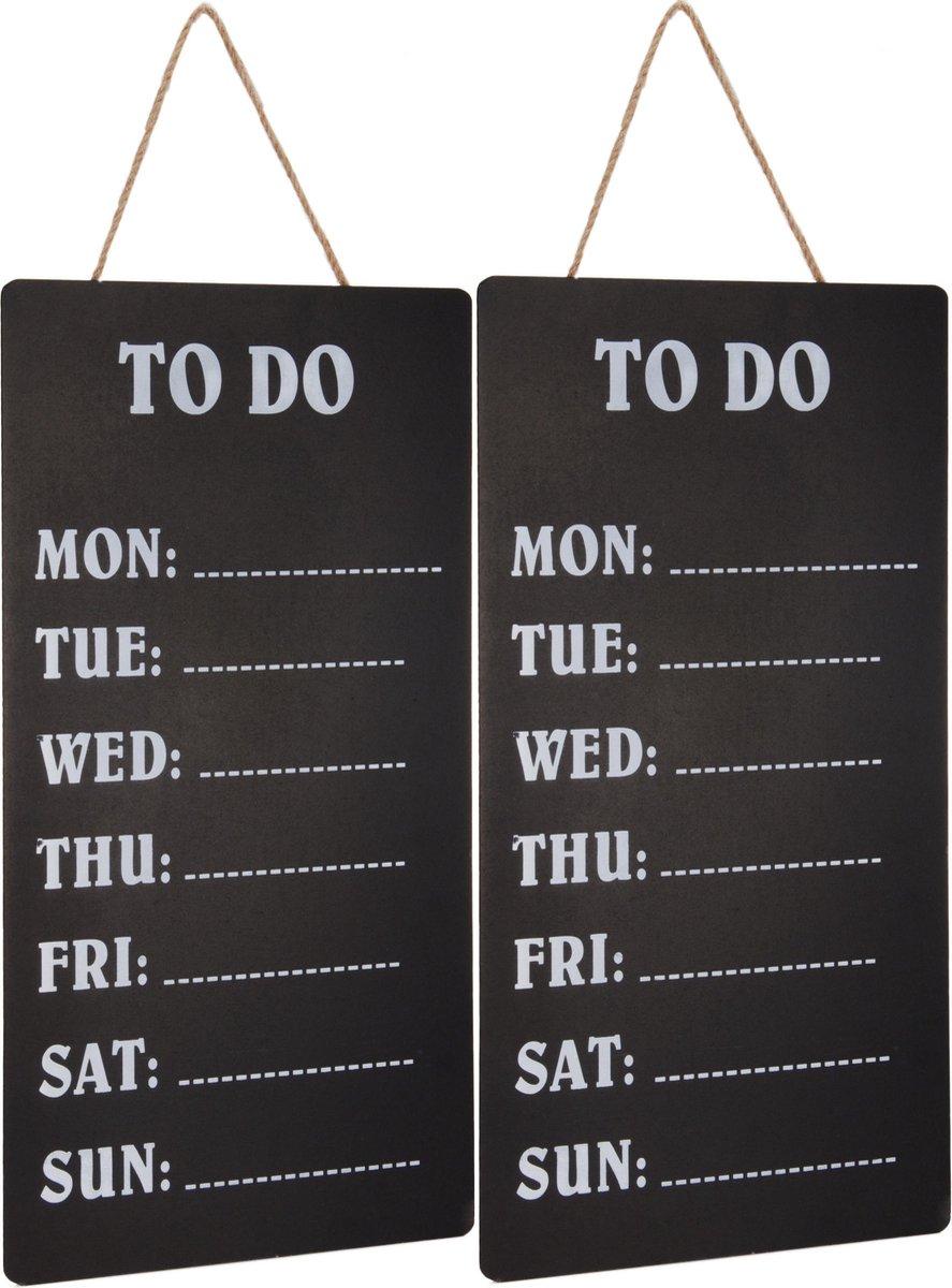 Merkloos / Sans marque 2x Weekplanners To Do schrijfbord/memobord 30 x 60 cm Woonaccessoires Huisdecoratie Kantoorbenodigdheden Weekplanners Planborden Memoborden/schrijfborden To Do borden online kopen