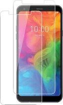 LG Q7 Screenprotector Glas - Tempered Glass Screen Protector - 2x
