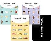 The Cool Club - Mixed Set - 3 Kaartspellen met de 3x 54 Coolste Iconen, Auto's en Dieren van de Wereld - Hoogwaardige Speelkaarten - Design Awards Winner