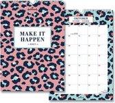 Leopard Fun maandkalender 2021 - zalm