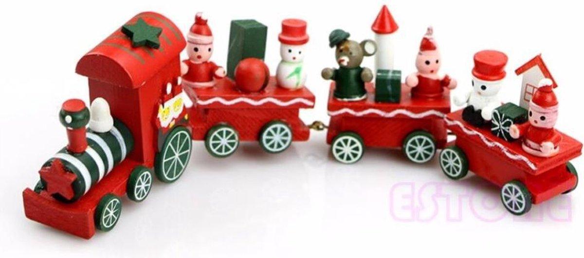 Houten kerst trein kopen
