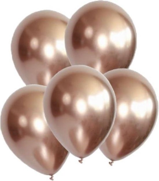 Chrome Ballonnen Mauve / Lila / Rosé goud - DH collection | Effen | 9 stuks | Baby Shower - Verjaardag - Geboorte - Wedding  - Birthday - Party - Feest - Huwelijk
