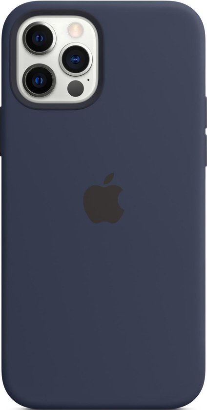 Siliconenhoesje met MagSafe voor iPhone 12 (Pro) - Donkermarineblauw