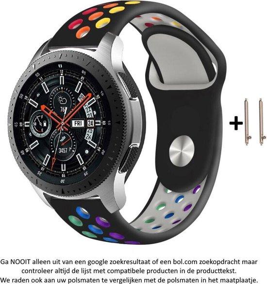 Zwart Siliconen Bandje voor 20mm Smartwatches (zie compatibele modellen) van Samsung, Pebble, Garmin, Huawei, Moto, Ticwatch, Seiko, Citizen en Q – Maat: zie maatfoto – 20 mm red rubber smartwatch strap