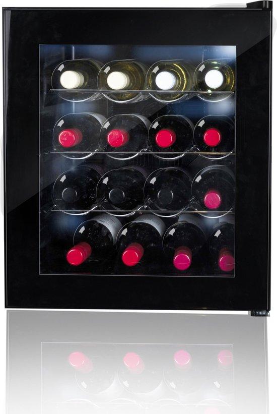 Wijnkoelkast: Alpina Wijnkoelkast - Wijnklimaatkast - 48 Liter - 16 Flessen - Zwart, van het merk Alpina