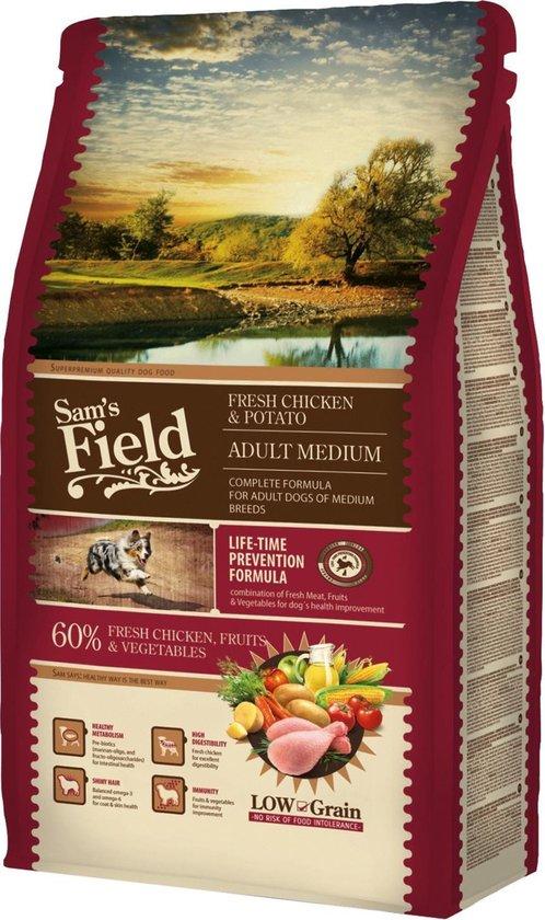 Sam's Field Adult Medium - Kip & Aardappel - Hondenvoer - 2.5 kg