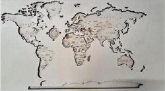 Wereld 3D MDF&Multiplex 3 laags LxB 122cm x 60cm