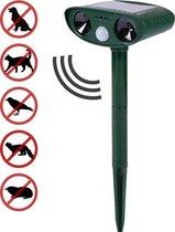 Ultrasone Kattenverjager op Zonneenergie voor in de Tuin – Solar Kattenverjager - Kattenschrik / Katten Afweermiddel / Ongedierte verjager / Vogelverjager / Marterverjager – Diervriendelijk