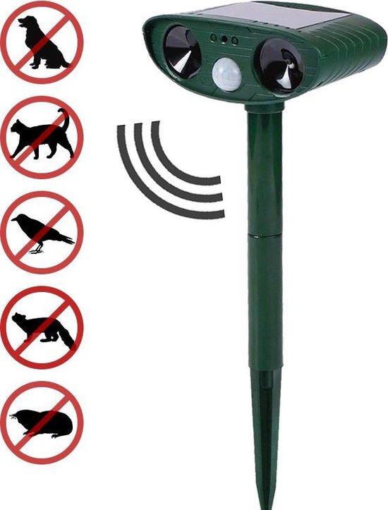 Ultrasone Kattenverjager op Zonneenergie - Kattenschrik - Katten Afweermiddel - Ongedierte verjager - Vogelverjager - Marterverjager