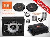1000W JBL Subwoofer + JBL 4-ch Versterker + JBL Ovale Speakers + OFC Kabelset + Splitter