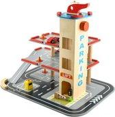 Houten Parkeergarage Cars Helikopters Houten Speelgoed